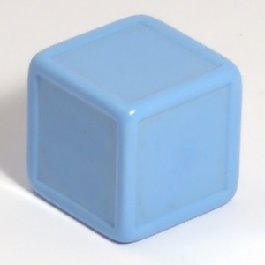 Blank indented dice - sky blue